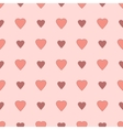 Simple and cute varicolored hearts seamless vector image