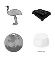 Travel nature ecology and other monochrome icon vector image