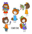 set of characters vector image