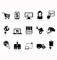 shopping on-line icons vector image