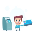 Each credit card has its own ATM vector image