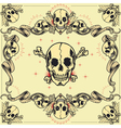 Skull and Ribbon Frames vector image
