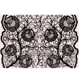 Abstract seamless black lace ribbon with feminine vector image