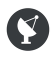 Monochrome round satellite dish icon vector image