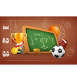 School game and strategy background vector image