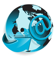 arrow around globe vector image vector image