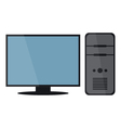 computer with monitor vector image