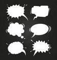 cartoon speech balloons collection on chalkboard vector image