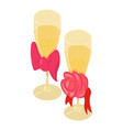 champagne icon isometric style vector image
