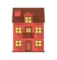 facade confortable residence with balcony vector image