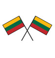flag of lithuania stylization of national banner vector image