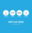 flat icon auto set of input technology steels vector image