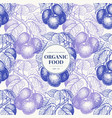 fruits hand drawn seamless pattern banner vector image