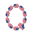 Letter Q made of USA flags in form of candies vector image