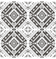 Seamless colorful aztec pattern Pencil Drawing vector image