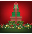 stack of gifts shapped tree vector image