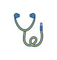 stethoscope icon imag vector image