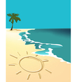 Sunny holiday beach vector image vector image