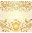 Gold easter frame vector image vector image
