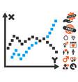 functions plot icon with love bonus vector image