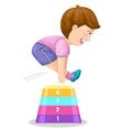 boy jumping hurdle vector image