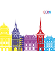 Bern skyline pop vector image