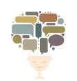 Human head and thoughts concept design vector image