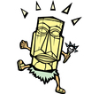 Retro Tiki Witchdoctor vector image