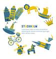 Stockholm Design Elements vector image