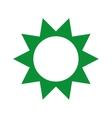 green sun isolated icon design vector image