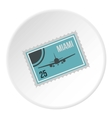 Air ticket to Miami icon flat style vector image