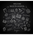 Back to school chalkboard sketch vector image
