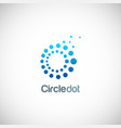 circle dot technology logo vector image