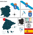 Map of Galicia vector image