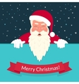 Smiling Santa Claus wearing red hat and glasses vector image