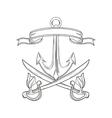 cartoon pirate tattoo design vector image