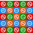 No smoking and smoking area - Big set stickers vector image vector image