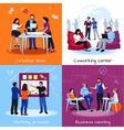 Coworking People 2x2 Design Concept vector image