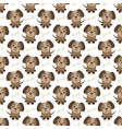 seamless pattern with funny dogs and bones vector image vector image