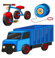 truck and tricycle toys vector image