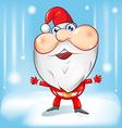 santa claus cartoon with background vector image