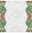 unusual floral ornamental template vector image