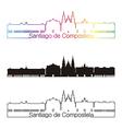 Santiago de Compostela skyline linear style with vector image