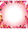 cosmetics frame vector image