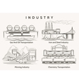 Factory industrial landscape vector image