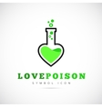 Love Poison Concept Symbol Icon or Logo Template vector image