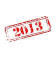 Number year rubber stamp vector image