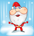 santa claus cartoon with background vector image