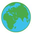 Planet Earth Cartoon Character vector image