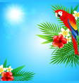 blue summer background vector image vector image